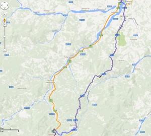 Droga SS62 z Tellaro na północ przez Apeniny